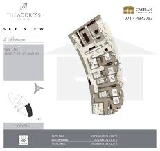 sky view tower 1 floor plans