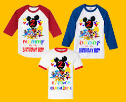 mickey mouse birthday shirt mickey mouse clubhouse birthday shirt family shirts mickey mouse