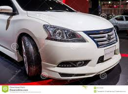nissan sylphy modified nissan sylphy on display editorial image image 33137005