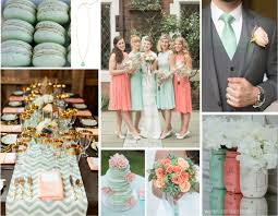 Mint Green Wedding Mint Green U0026 Peach Wedding Inspiration Modern Martha