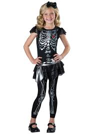 girls sparkly skeleton costume