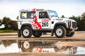 land rover bowler trackrod rally delivers unique backdrob for round four of defender