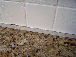 Wainscoting Backsplash Kitchen by Older And Wisor Painting A Tile Backsplash And More Easy Kitchen