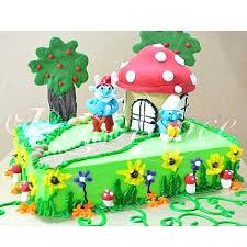 send 6lbs smurf cake redolence bake studio expressgiftservice