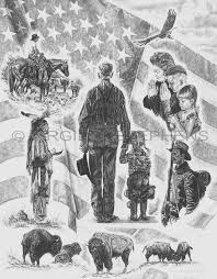 america the beautiful pencil drawing by virgil c stephens