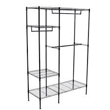 Metal Wire Storage Shelves Sortwise Portable Clothes Wardrobe Garment Rack Home Closet Hanger