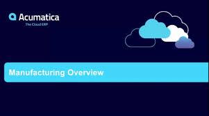 manufacturing erp software acumatica cloud erp