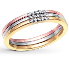 rose color rings images 3 piece tri color white rose and yellow wedding ring band for jpg