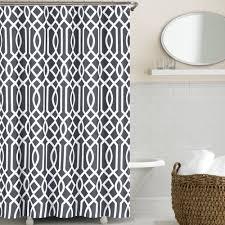 Curtain Ideas For Bathroom Bathroom Grey Shower Curtain With Cool Pattern For Bathroom