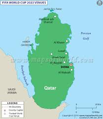 russia world cup cities map fifa world cup 2022 venues map of qatar