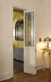 stained glass internal doors stained glass door with blue and yellow accent artiste bifold door