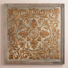 Mirrored Wall Panels Gold Medallion Mirrored Wall Panel World Market