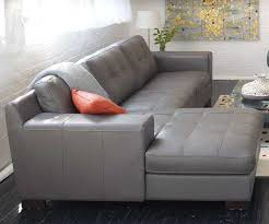 Modern Gray Leather Sofa Modern Tailored Leather Sectional Chair And Sofa Modern
