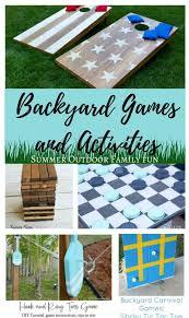 Diy Backyard Games by Diy Backyard Games And Activities Summer Outdoor Family Fun