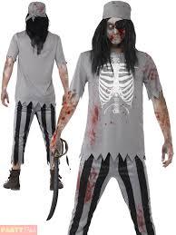 zombie pirate costume mens ladies halloween ghost fancy