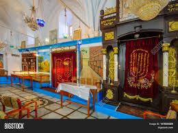 tzfat the abuhav synagogue in the jewish quarter safed tzfat stock