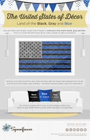 Blue And Black Striped Flag America U0027s True Colors United States Decor Trends Spoonflower