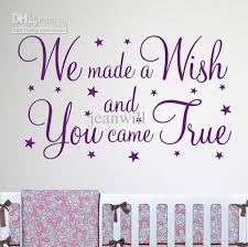 wall decals quotes quotesgram we made a wish wall quote nursery wall decal decor sticker vinyl