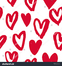 valentine day hearts pattern background hand stock vector