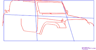 cartoon jeep drawings how to draw a jeep wrangler step by step suvs transportation