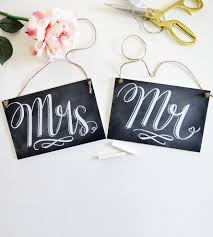 mr and mrs sign for wedding mr mrs wedding chair signs wedding decor etc val