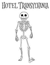 hotel transylvania skeleton coloring pages bulk color