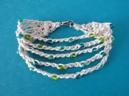 crochet bracelet images Wind rose fiber studio summer cotton crocheted bracelet free jpg