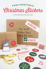 Printable Labels Printable Christmas Stickers