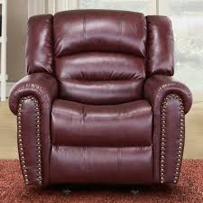 Burgundy Living Room Furniture by Meridian Furniture 686 C Chelsea Burgundy Leather Rocker Recliner