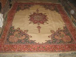 Indian Area Rug Antique Indian Wool Area Rug Carpet 9x11 Kashmir Ebay