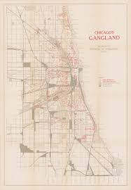Map Chicago by Chicago U0027s Gangland Cornell University Library Digital