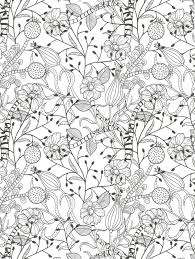 floral coloring page for adults colored pencils for adults