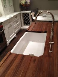 wood countertops with sinks overmount undermount