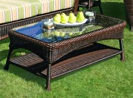 rattan side table outdoor outdoor wicker coffee table with umbrella hole coffee table designs