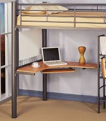 bedroom metal loft bed with desk and shelf large ceramic tile