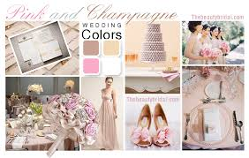 color palette for wedding pink and chagne wedding color scheme wedding dress