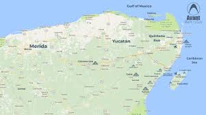 Map Of Cancun Avant Rent A Car In Cancun U2013 Map Of The Riviera Maya And Nearby