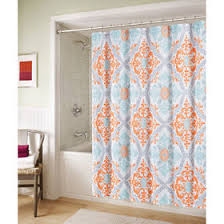 Orange Shower Curtains Blue And Orange Marcone Shower Curtain At Home At Home