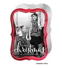 holiday photo cards u2014 modern posh