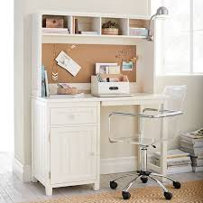 Desk Hutch Ideas Beadboard Space Saving Desk Hutch Pbteen