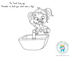Coloring Page 01 Tooth Fairy Express Dental Hygiene For Kids Brushing Teeth Coloring Pages