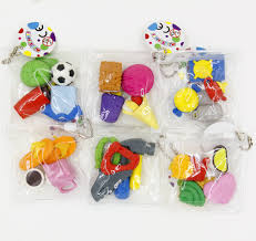 party favors for boys 6 packs of assorted adorable boys favorite erasers sweet