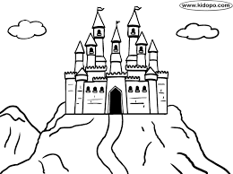 mountain big castle kids coloring pages castles