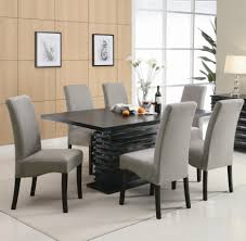 grey leather dining room set where to nailhead chairs faux kitchen