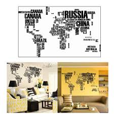 wall sticker english letters map home decor decoration in wall