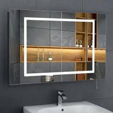 Heated Mirror Bathroom Cabinet Led Bathroom Cabinet With Shaver Socket Justget Club