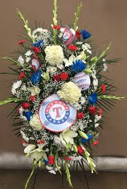 flower delivery dallas rangers standing easel spray flower delivery dallas tx