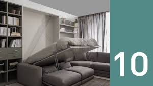 Wall Bed Sofa by On Off Wall Bed Milano Smart Living Youtube