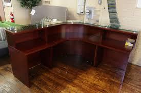 Arnold Reception Desks by Baldwin Glass Top Dark Cherry Reception Desk U2022 Peartree Office