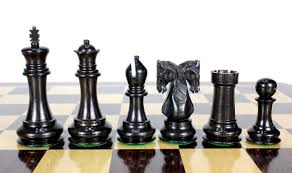 ebony wood twin knight staunton wooden chess set pieces 4 6